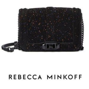 Rebecca Minkoff Black Small Suede Crossbody Bag